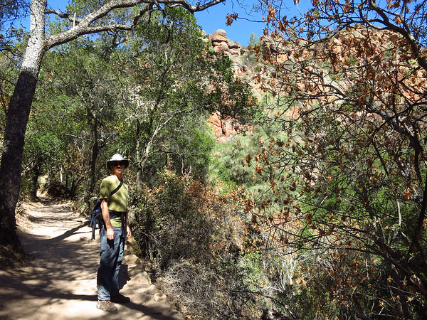 Morning hike at Pinnacles National Park