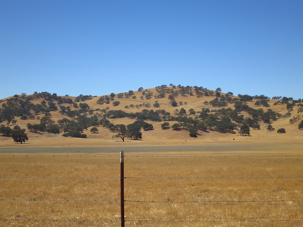 Driving south after a visit to Pinnacles National Park