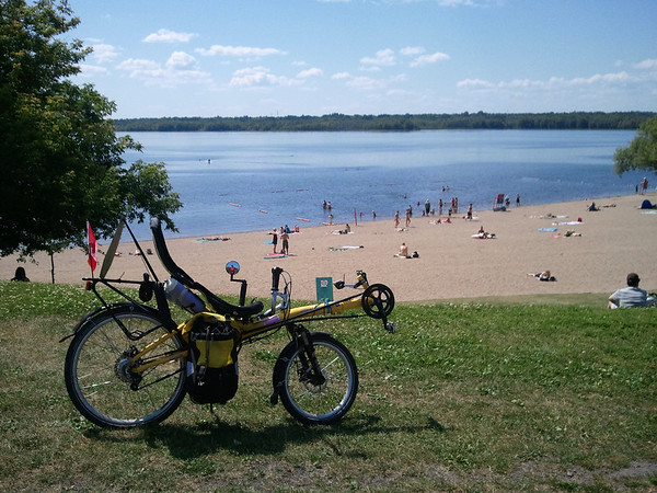 Westboro beach - one of the many public beaches on the Ottawa River